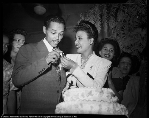 "Billy Eckstine and Lena Horne captured by the iconic photographer Charles ""Teenie"" Harris at the Loendi Club in Pittsburgh, October 1944. Photo: Carnegie Museum of Art."