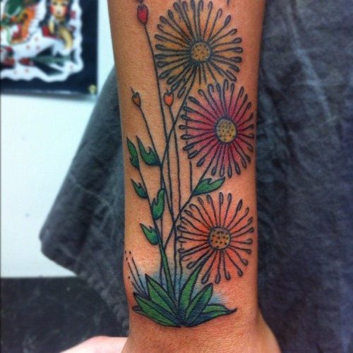 Zap #tattoos #tatz #flowers #austintattooco (Taken with Instagram at Austin Tattoo Co.)