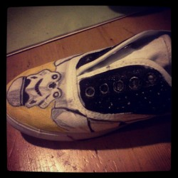 starwars themed shoes (for myself) hand painted.