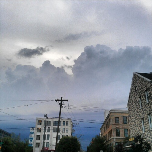 The storm is coming #clouds #TME  (Taken with instagram)
