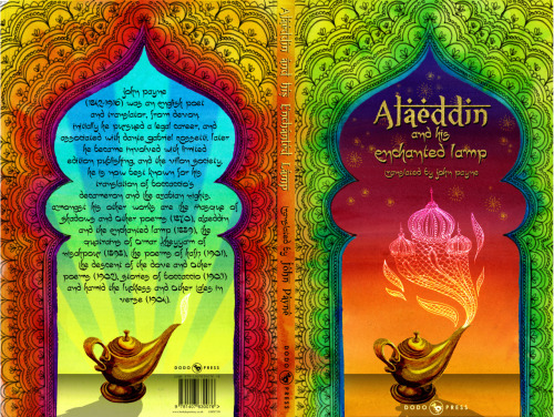 Conceptual book cover for a version of Aladdin with a really boring cover.