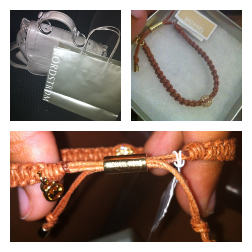 Michael Kors friendship bracelets w/ my bestest love Sheney