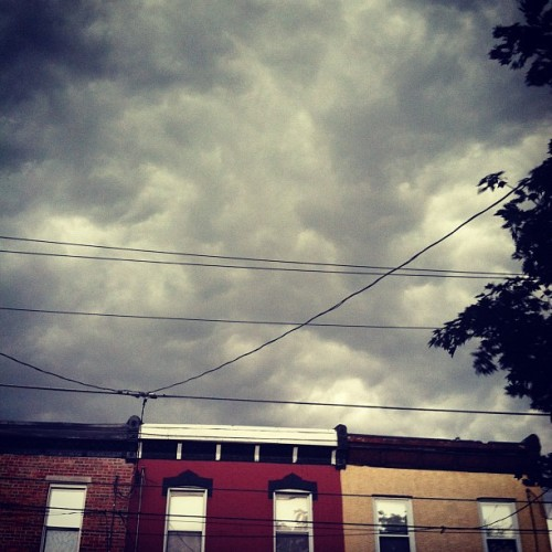 "Dre says this storm ""ain't 'bout shit"". We shall see! (Taken with instagram)"