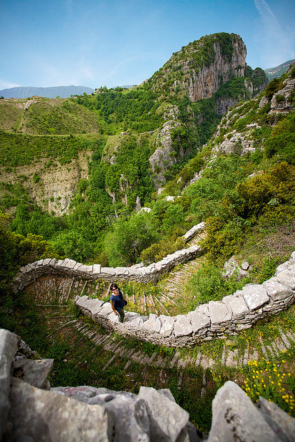 visitheworld:  Vradeto Steps in the Vikos-Aoos National Park, Greece (by CherieChoy).