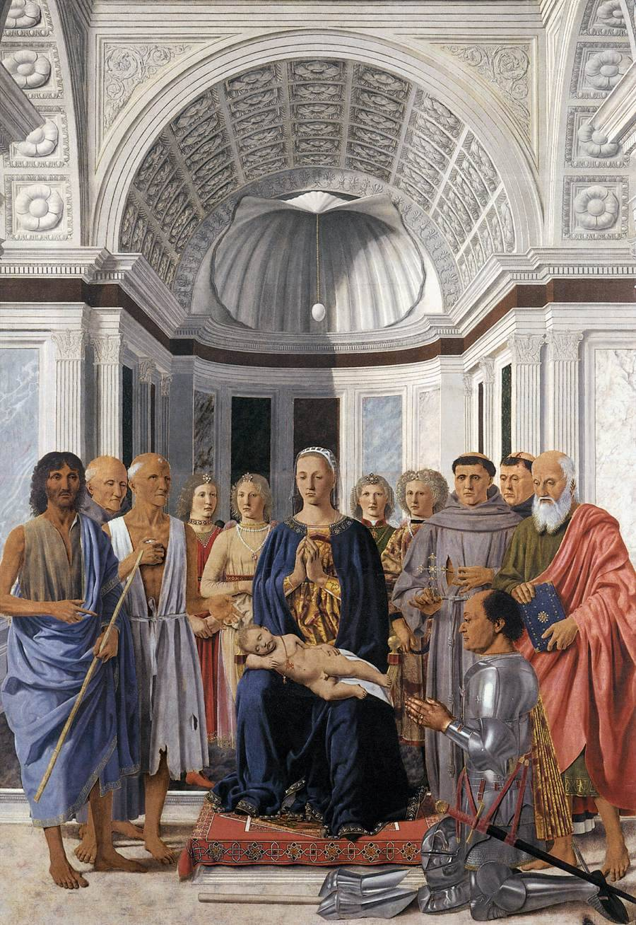 cavetocanvas:  Piero della Francesca, Madonna and Child with Saints (Montefeltro Altarpiece), 1472-74
