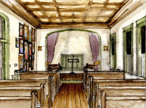 Interior: SCAD's Clarence Thomas Center Watercolor