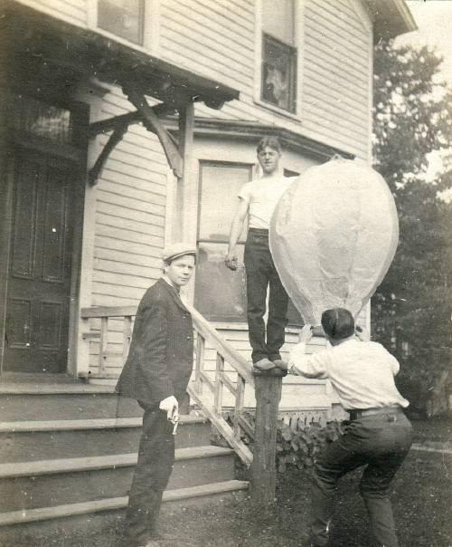 …a balloon and a handgun….c. 1920s/30s