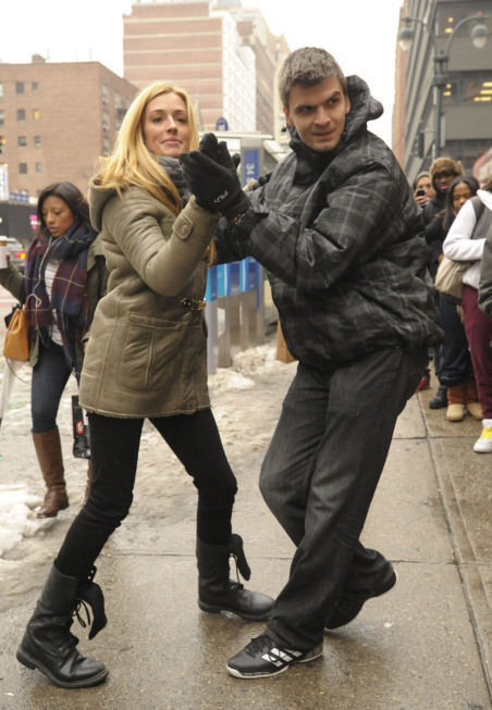 Contestants show off his moves with host Cat Deeley (L) in New York City on the Season Nine premiere of SO YOU THINK YOU CAN DANCE.