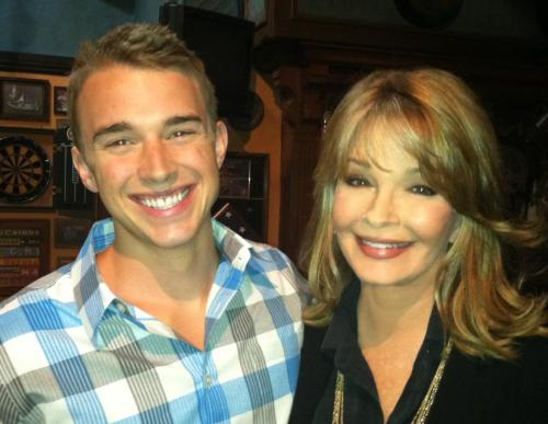 "chandler-massey:  From Deidre Halls Facebook Page: ""Chandler and I got to work together right before we went dark for a week. I have the following week off as well. ""  SO cute!"