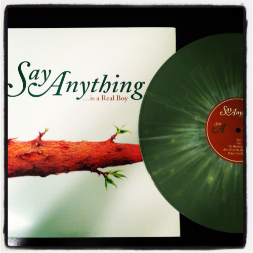 danie-gee:  xahhx:  Solid mail day… Say Anything - Is/Was a Real Boy Green vinyl w. white starburst/2xLP/2012 Doghouse reissue/out of 250  That looks so cool!  WANT!!!!!!!!!!!