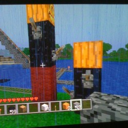One of the weird things you can do in MineCraft lol  (Taken with instagram)