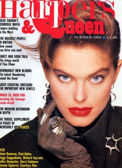 Harpers & Queen October 1986 Model: Renée Simonsen ph: Stevie Hughes