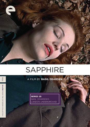 "Sapphire (dir. Basil Dearden, 1959) ""In 1950s London racial hostility to Commonweath immigrants is openly paraded. A young girl, initially assumed to be white, is murdered. As two detectives start to investigate, and discover her racial origins were much more mixed, public prejudices and those of the officers themselves are exposed."""