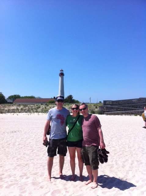 B, J & J at Cape May lighthouse NJ. Thanks for having us again at the compound!  Great way to cap off an awesome vacation