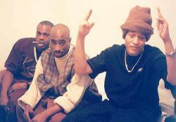 manliketoffy:  Pac & Kadafi #outlawz
