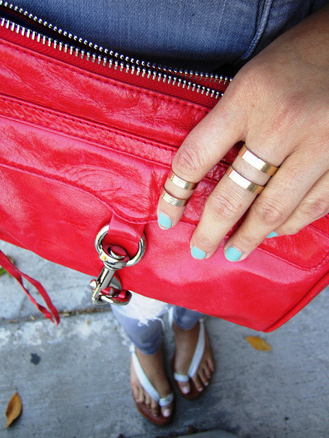 We adore how Jo from love fashion life wears our Halo Double Band Rings in gold! Get them here!