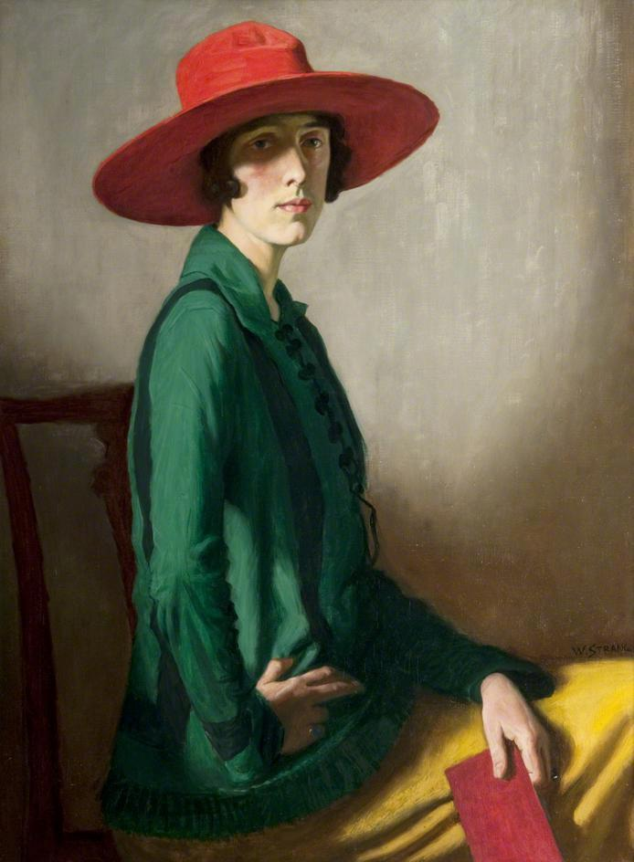 "William Strang, ""Lady with a Red Hat (Portrait of Vita Sackville-West),"" 1918."