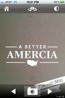 Mitt Romney's new iPhone app, misspelling America. (via @thischoi)