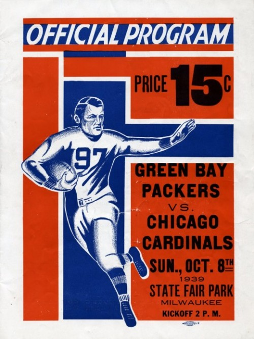 Packers v Cardinals Official Program, 1939 | Retronaut