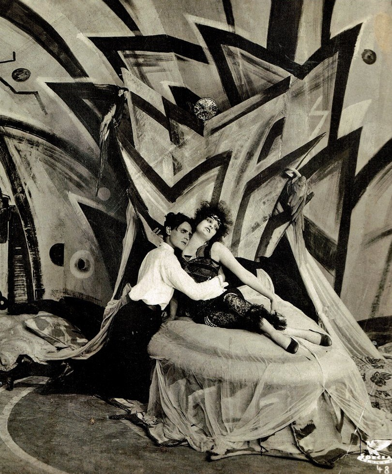 germanexpressionism:  Genuine (1920, dir. Robert Wiene) Set design by German Expressionist painter César Klein. (via)