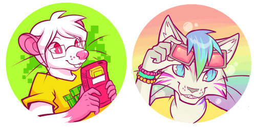 squeedgeart:  Last-minute button designs ofSOME NERDandA GAY CAT