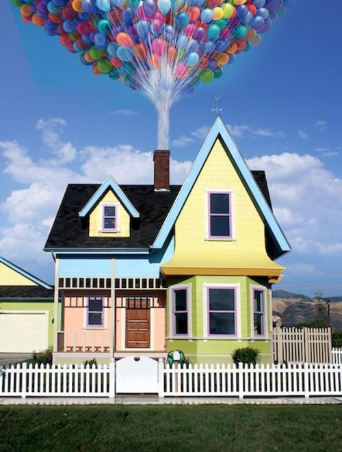 modernizing:  Disney Pixar 'Up' Replica House by Bangerter Homes