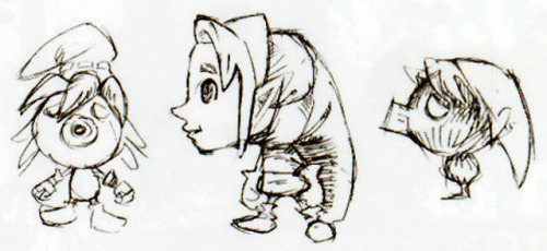 Majora's Mask concept art for Deku Link