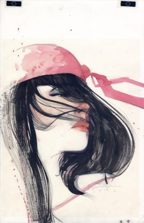 awyeahcomics:  Elektra by Bill Sienkiewicz