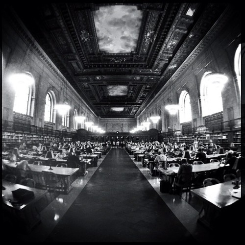 New York City Public Library #iphone #hipstamatic #olloclip #fisheye (Taken with Instagram at New York Public Library)