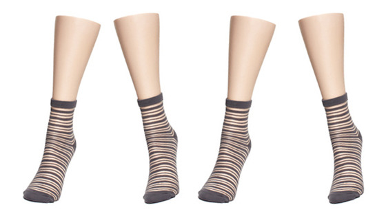june's sock of the month is our sheer stripe crew! special sale price $7.20 *quantities limited