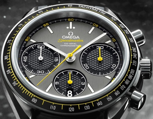 The #Omega #Speedmaster Racing Edition Was Created With An In-house Caliber 3330 Movement. The Race Edition Released At This Year's Baselworld Shows Us That Omega Is Going Back To The Speedmaster Roots Of Auto Racing - #Race