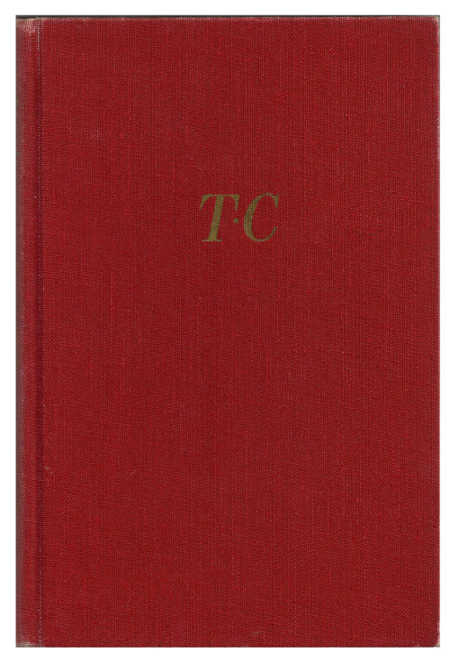 "The ""TC"" stands for Truman Capote. But I kind of want to pretend it's Thomas Chatterton. Vintage copy of In Cold Blood."