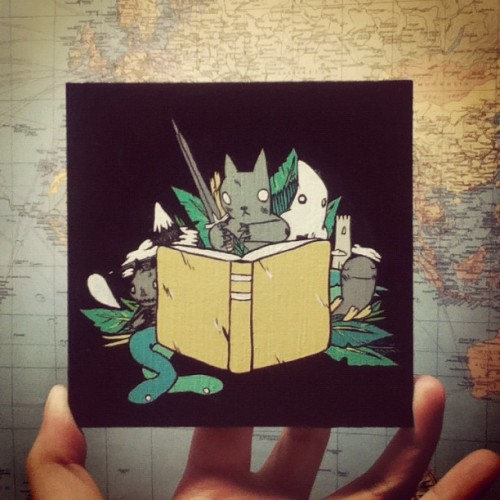 dethpsun:  Book Painting (Taken with instagram)