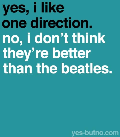 "I've seen too many ""OMG ONE DIRECTION = THE NEW BEATLES"" comments."