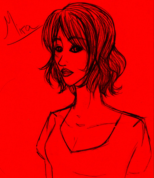 A quick sketchy-sketch of what I imagine (kinda) my protagonist, Mira, to look like! I'm not really good with the realistic style as I'm actually more familiar with the manga style, but meh, here's my effort! If you want her bio, read on. If you don't, well… don't! <3    Name: Elamira (Mira) StarlingAge: 17Hair: BlackEyes: GreenMira is a very down to earth girl- she has a quick wit and a sharp tongue which strongly contrast with her delicate feelings and strong sense of compassion. She is the descendent of House Starling, much to her ignorance, and a possible candidate for the throne. She is unfamiliar with Tyrria (the kingdom in the other world) as she was raised in our world. A tough cookie, she will go down fighting.