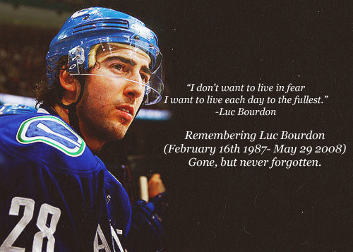 In memory of Luc Bourdon (February 16, 1987- May 29, 2008)