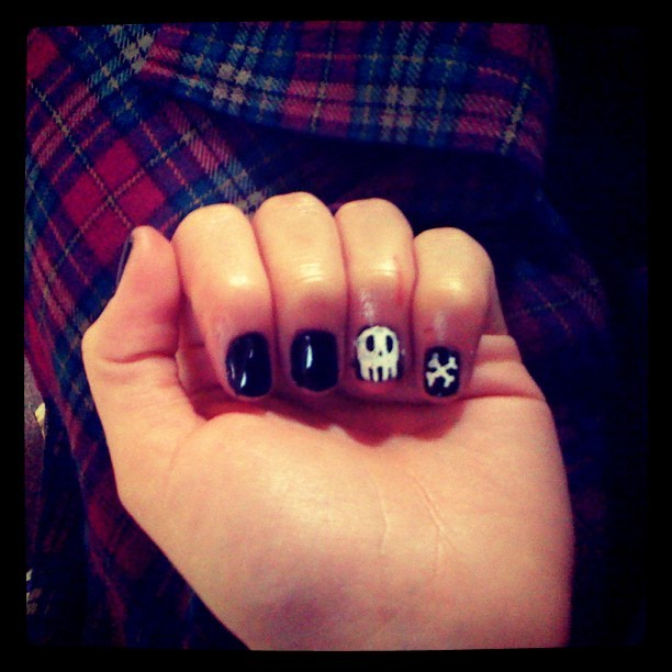 Nails! The right hand looks so dodge :( #nailart (Taken with instagram)