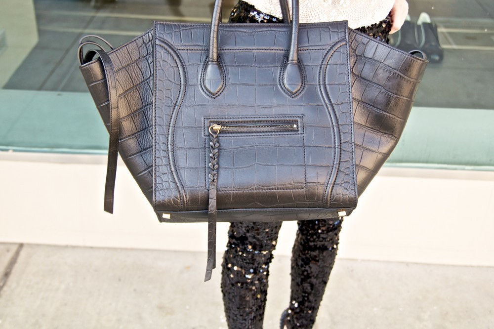 Sequins and Leather = Our kind of accessories! sharewithclique@gmail.com (photo:Hailley Howard)
