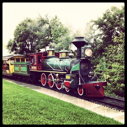 Walt Disney World Railroad at The Magic Kingdom, Walt Disney World, Lake Buena Vista, FL #magickingdom #waltdisney #waltdisneyworld #disney #disneyworld #lakebuenavista #railroad #steamtrain #steamengine (Taken with Instagram at Magic Kingdom® Park)