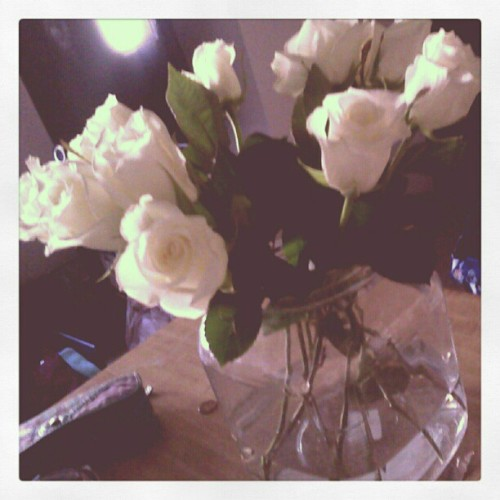 #Roses given to me by #carlos #GQ  #whiteroses  (Taken with instagram)