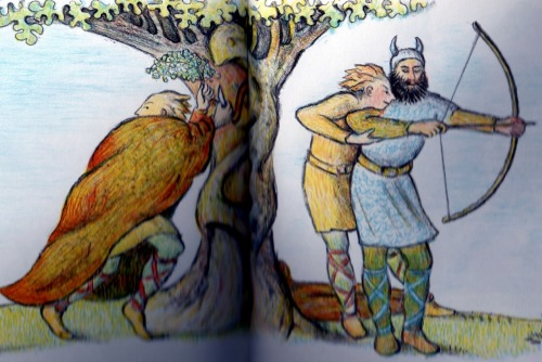 Oh, Loki.  Don't!!  (The Death of Balder, from D'Aulaires' Norse Gods and Giants)