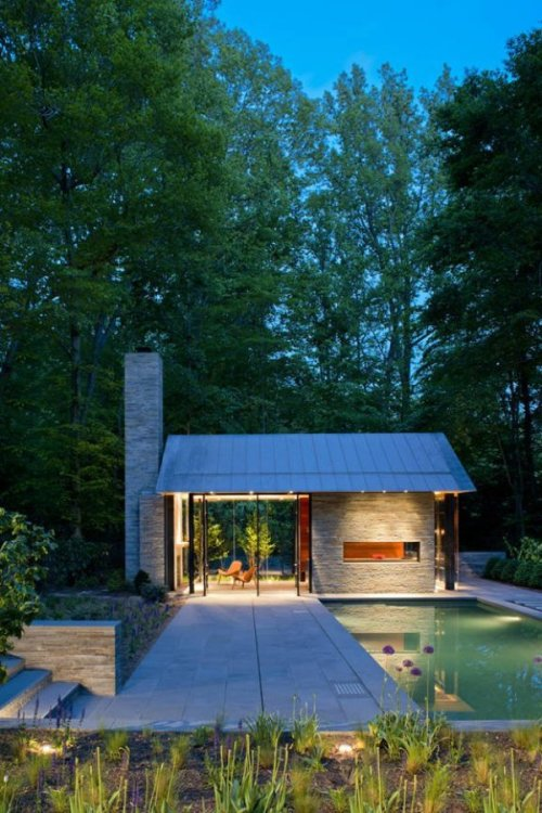 Backyard pool house