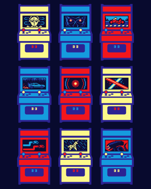 it8bit:  Sci-Fi Arcade Created by drewpixel Available on RedBubble