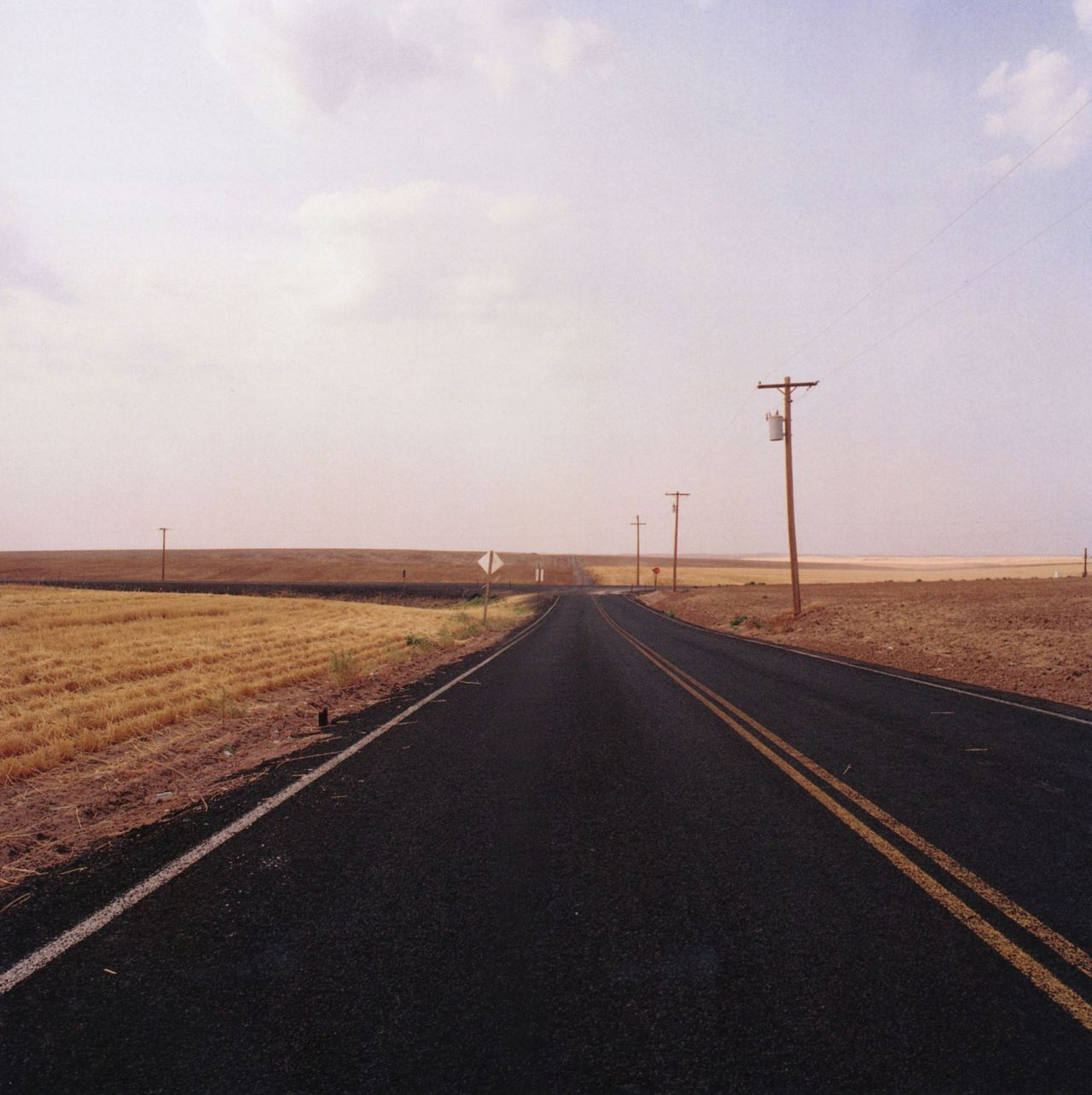 Jeff Brouws, Route 2 near Hartline, Washington, 2003. From Approaching Nowhere: Photographs. Thank you, liquidnight.