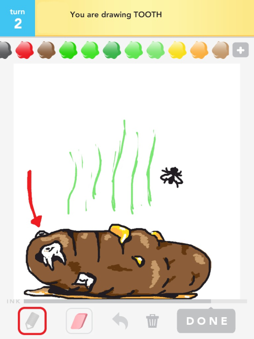 Drawsomething: tooth