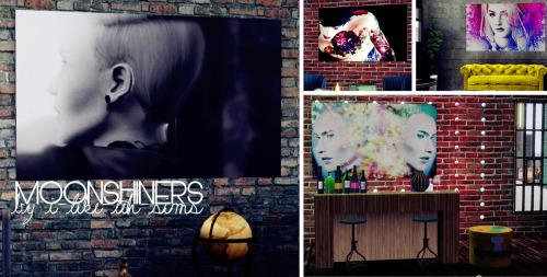 i-like-teh-sims:  MOONSHINERS - PAINTING SET Here's a few pictures from my game turned into photographs/paintings for your Sims! I think there are 19 images or so - I forgot a few that I had prepared so there will likely be another set X) It's a mix of everything from Sims to scenery. They're priced at 15$ and based off a b5studio mesh. Don't claim as your own - no reuploading - and link back to here! Enjoy! DOWNLOAD