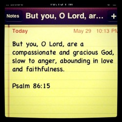 iwaslovedfirst:  This is our God!<3 #psalms #philippines #today #word #bible #love #god (Taken with instagram)