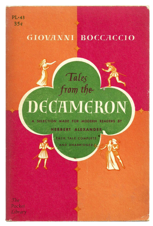 Tales from the Decameron, by Giovanni Boccaccio. The Pocket Library, 1959 edition. Via VintageEdition.
