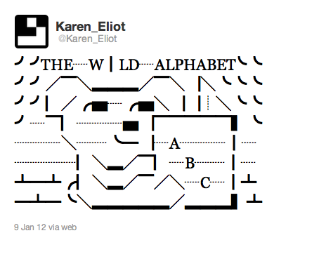 The Wild Alphabet designed by @aGGregArt and @Karen_Eliot https://twitter.com/#!/Karen_Eliot/status/156422641396367360
