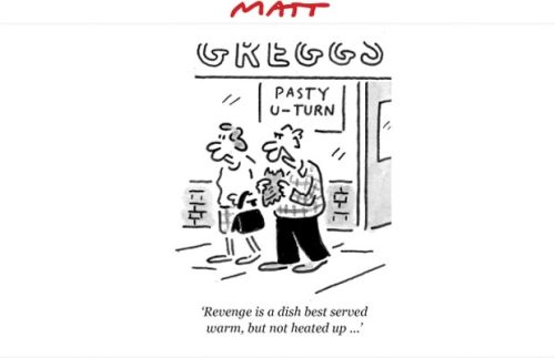 Today's Matt cartoon Telegraph.co.uk: The Coalition's climbdowns, u-turns, and row backs More Matt in the archive